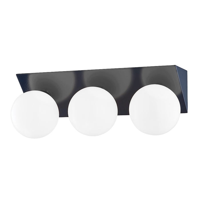 Mitzi Aspyn 3 Light Bath Bracket, Navy/Opal Glossy - H385303-PN-NVY