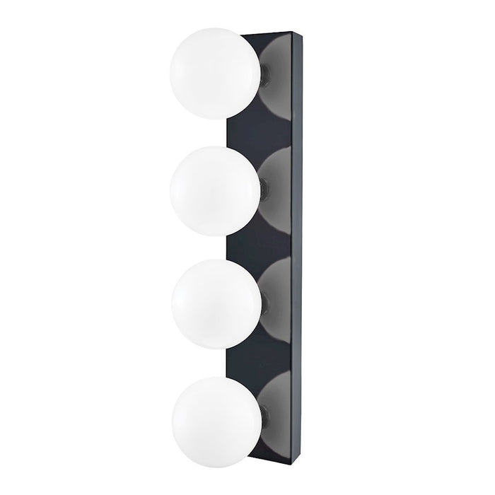 Mitzi Aspyn 4 Light Bath Bracket, Navy/Opal Glossy - H385304-PN-NVY