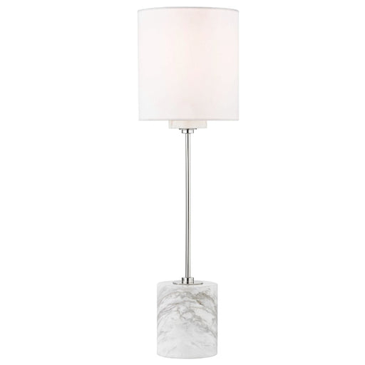 Mitzi by Hudson Valley Fiona Table Lamp, Marble Base, Polished Nickel