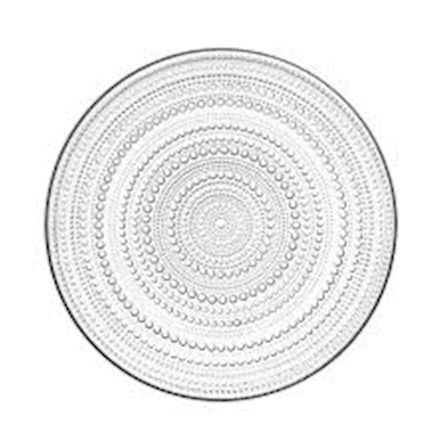 iittala Kastehelmi Large Plate in Clear