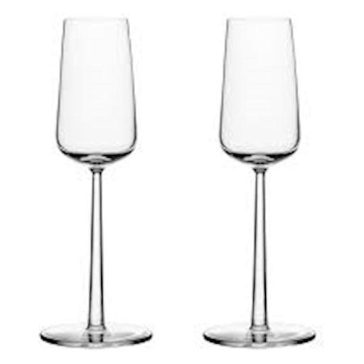 iittala Essence Champagne Set of 2 7 oz in Clear