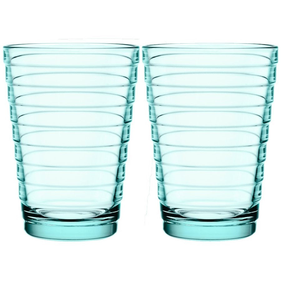 iittala Aino Aalto Tumbler Set of 2 11 oz in Water Green