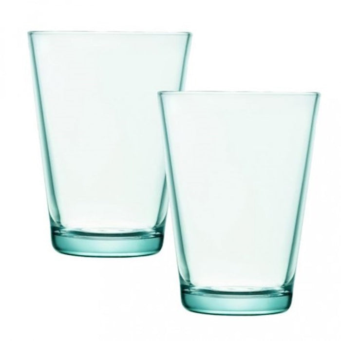 iittala Kartio Tumbler Set of 2 13.5 oz in Water Green