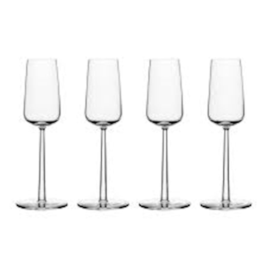 iittala Essence Champagne Set of 4 7 oz in Clear