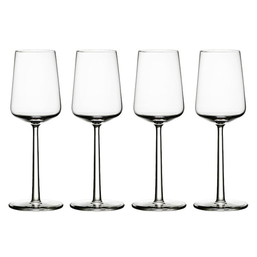 iittala Essence White Wine Set of 4 11.25 oz in Clear