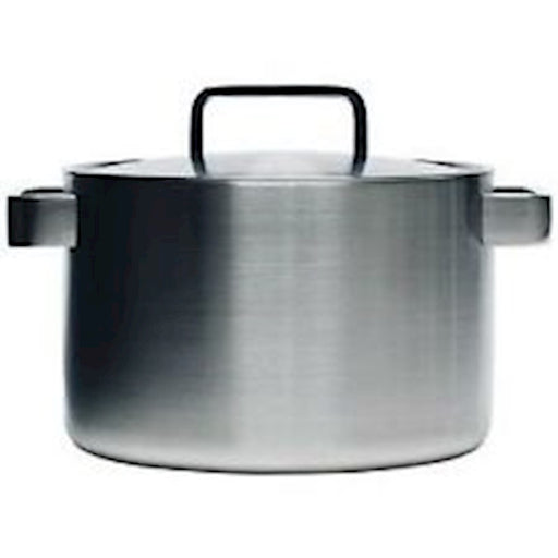 iittala Tools Casserole with Lid 5.25 Quart in Brushed Stainless Steel
