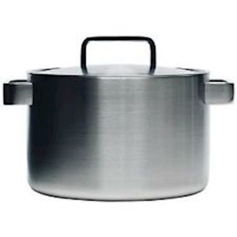 iittala Tools Casserole with Lid 8.5 Quart in Brushed Stainless Steel