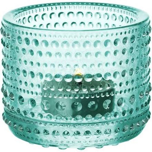 iittala Kastehelmi Tea Candle Holder in Water Green