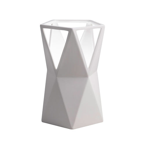 Justice Design Portable 1 Light Totem Table Lamp in Bisque - CER-2430-BIS