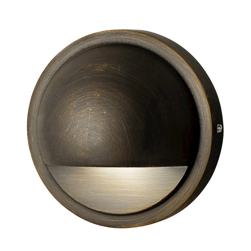 Kichler LED Integrated Half-Moon Deck Light, Centennial Brass