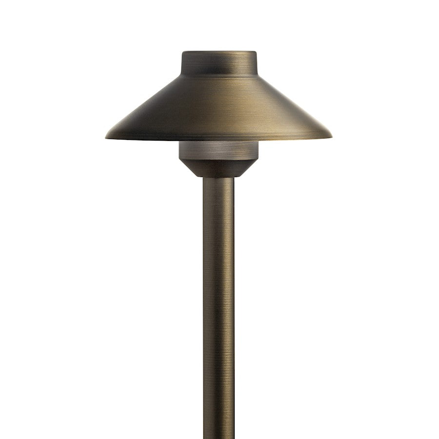 Kichler LED Integrated Stepped Dome Path Light, Centennial Brass