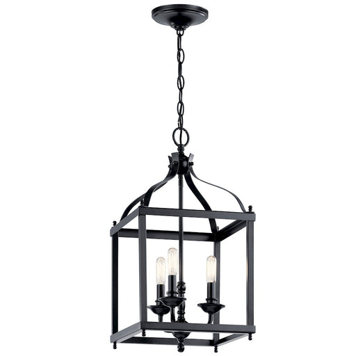 Kichler Larkin 3 Light Foyer Pendant, Black