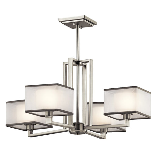 Kichler Kailey 4 Light Chandelier, Brushed Nickel