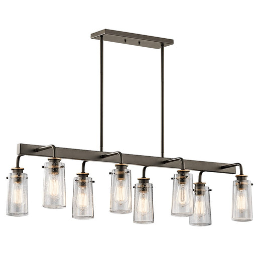 Kichler Braelyn 8 Light Linear Chandelier, Olde Bronze