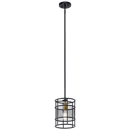Kichler Piston 1 Light Mini Pendant, Black
