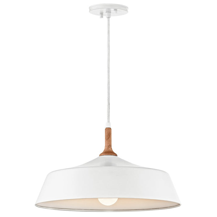 Kichler Danika 1 Light Pendant, White