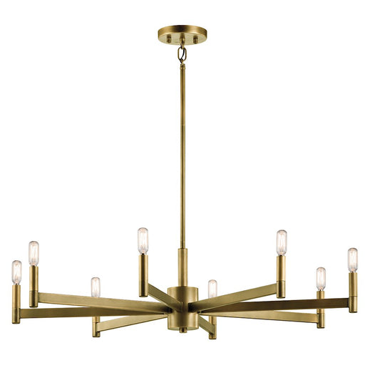 Kichler Erzo Chandelier, Natural Brass
