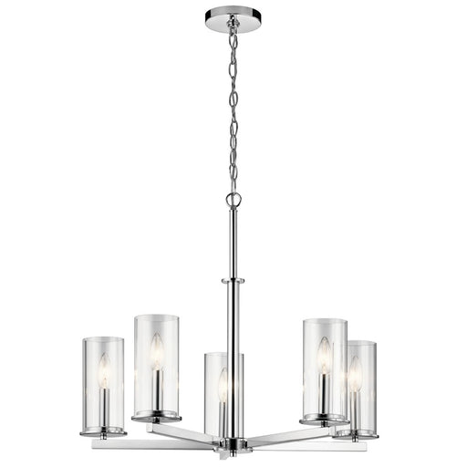 Kichler Crosby 5 Light Chandelier, Chrome