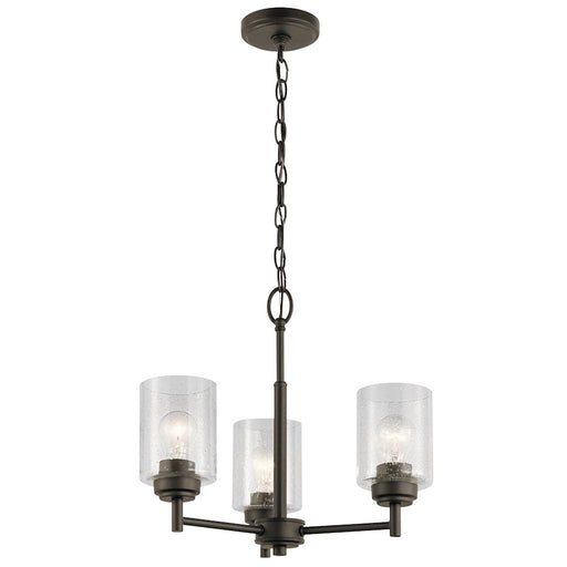 Kichler Winslow 3 Light  Mini Chandelier, Olde Bronze