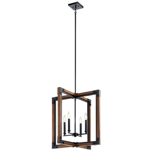 Kichler Marimount 4 Light Foyer Pendant, Auburn Stained Finish