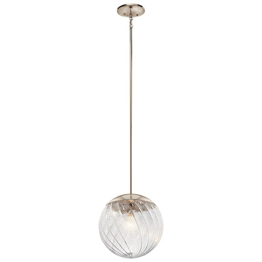 Kichler Amaryliss 1 Light Pendant, Polished Nickel