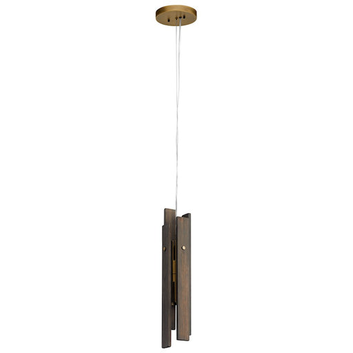 Kichler Fole 2 Light LED Mini Pendant, Vintage Gray
