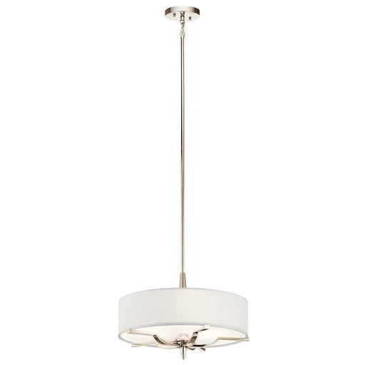 Kichler Kinsey 3 Light Pendant/Semi Flush, Polished Nickel