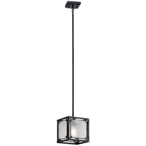 Kichler Steel 1 Light Mini Pendant, Distressed Black