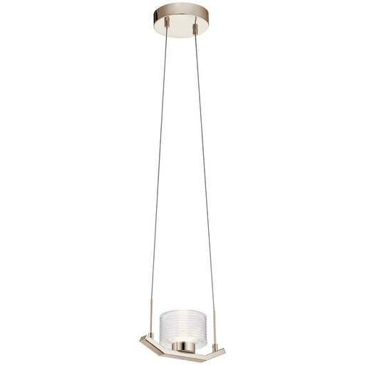 Kichler Lasus 1 Light LED Mini Pendant, Polished Nickel