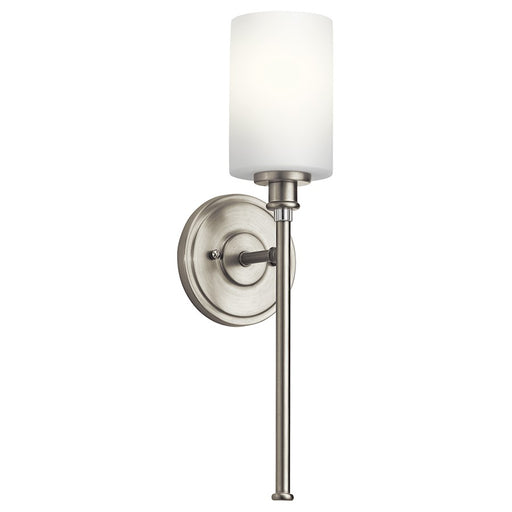Kichler Joelson 1 Light Wall Sconce, Brushed Nickel/Satin Etched Opal
