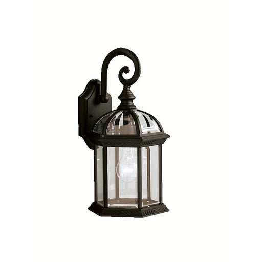 Kichler Barrie 1 Light Outdoor Wall Light, Black