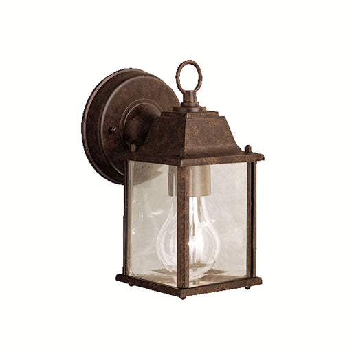 Kichler Barrie 1 Light Outdoor Wall Light, Tannery Bronze