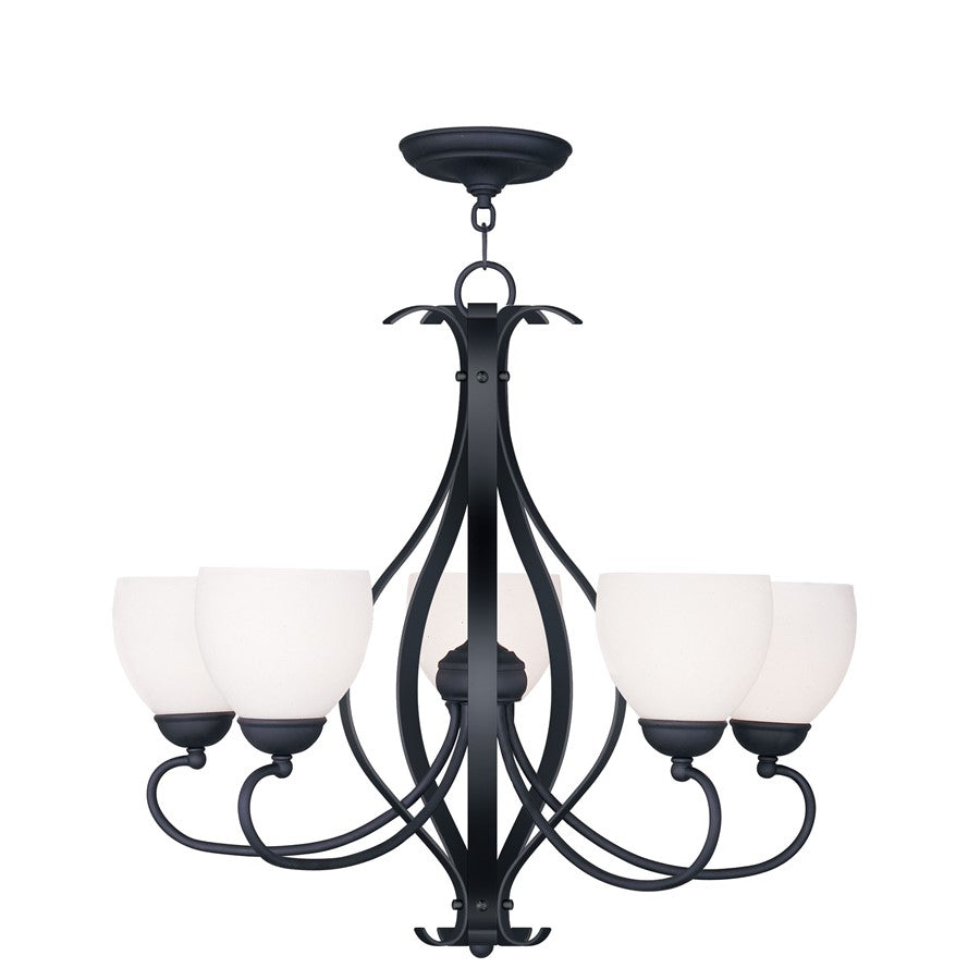 Livex Lighting Brookside Chandelier in Black