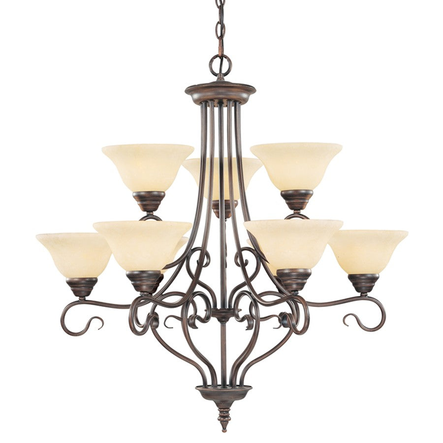 Livex Lighting Coronado Chandelier in Imperial Bronze