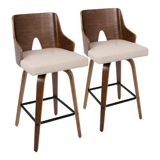 "LumiSource Ariana 26"" Counter Stool, Set of 2"