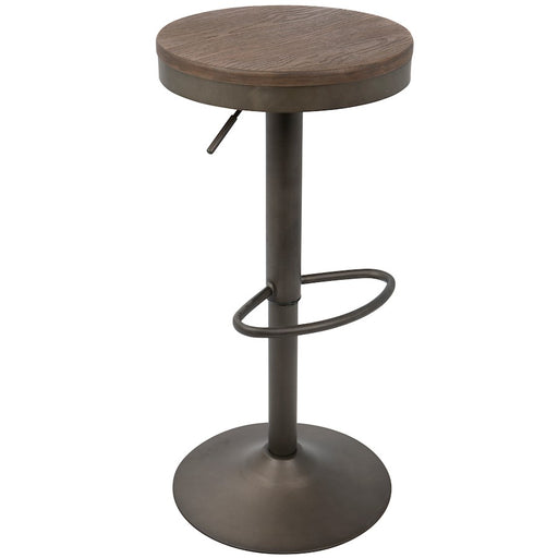 LumiSource Dakota Barstool, Set of 2, Antique, Brown -BS-DAKAN-BN2