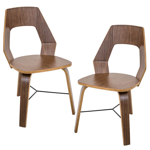 LumiSource Trilogy Chair (Set of 2), Walnut - CH-TRILOA2WL