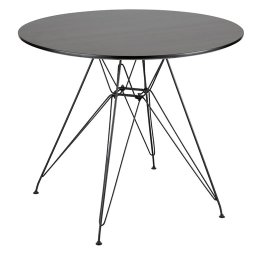 LumiSource Avery Round Dining Table, Black/Walnut - DT-AVRYRDBK-WL