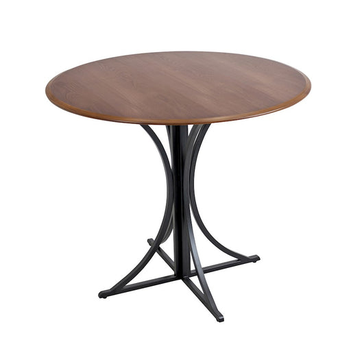 LumiSource Boro Dining Table, Walnut, Black - DT-BOROWL-BK