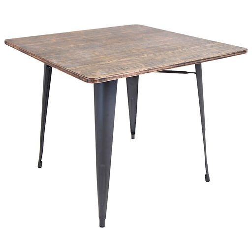LumiSource Oregon Dining Table, Grey, Wood - DT-TW-ORTBSQ