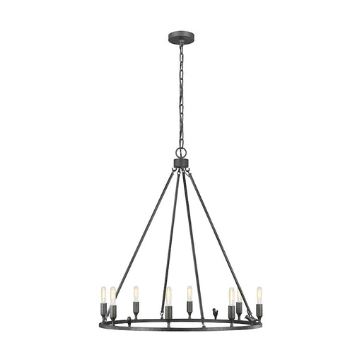 ED by Ellen Degeneres Caroline 8 Light Chandelier, Aged Iron