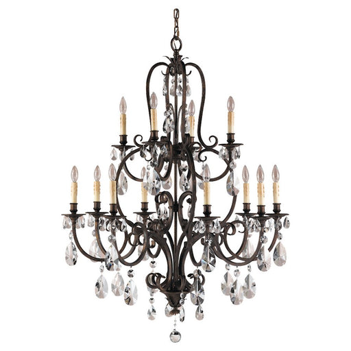 Feiss Salon Maison 12-Light Multi-Tier Chandelier