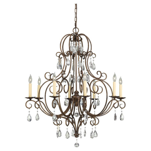 Feiss Chateau 8-Light Chandelier, Mocha Bronze