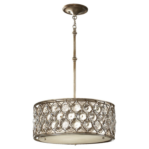 Feiss Lucia 3-Light Shade Pendant, Burnished Silver