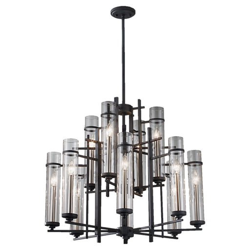 Feiss Ethan 12-Light Multi-Tier Chandelier