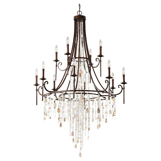Feiss Cascade 12-Light Multi-Tier Chandelier