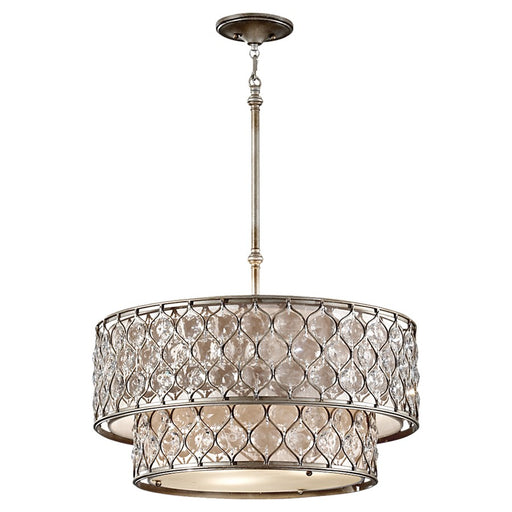 Feiss Lucia 6-Light Chandelier, Burnished Silver