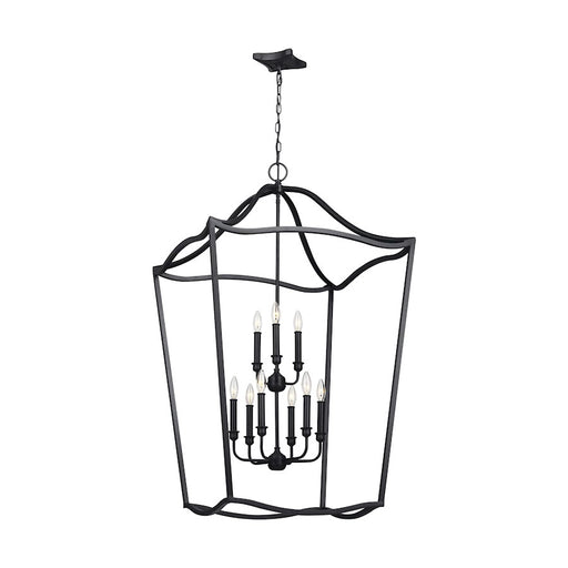 Feiss Yarmouth 9 Light Chandelier, Antique Forged Iron