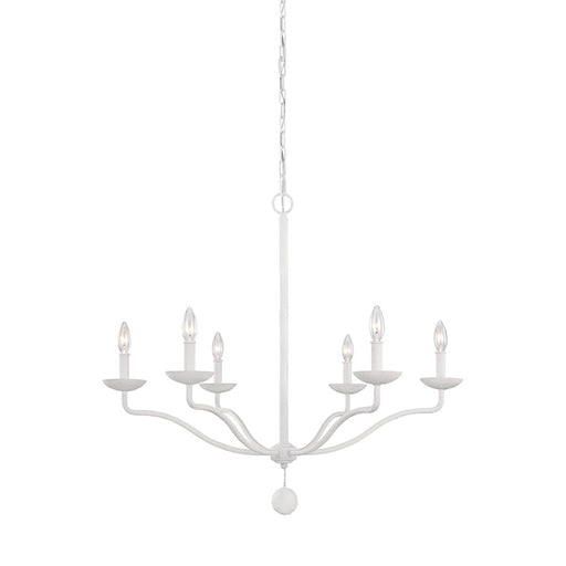 Feiss Annie Chandelier, Plaster White