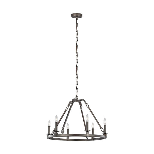 Feiss Landen Chandelier, Smith Steel